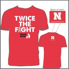 Twice the Fight red shirt